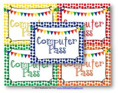 3rd Grade Thoughts: Managing Class Computers + A Freebie