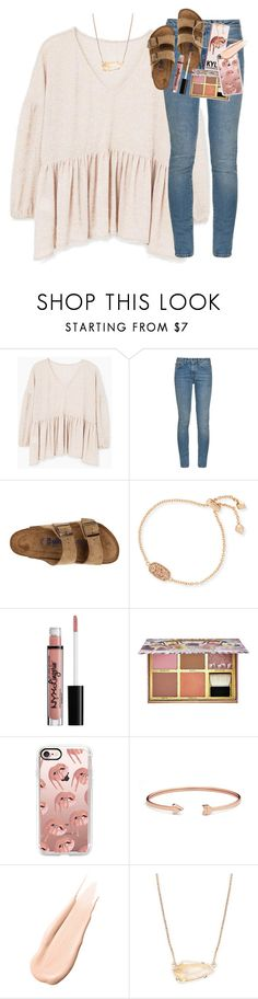 """working on a suuper fun spanish project:)"" by classynsouthern ❤ liked on Polyvore featuring MANGO, Yves Saint Laurent, Birkenstock, Kendra Scott, Benefit, Casetify, FOSSIL and Hourglass Cosmetics"