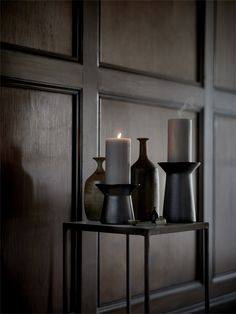 IKEA - SINNESRO, Block candle holder, dark gray, Elegant block candle holder that gives an atmospheric light and is beautiful in its own right. For block candle max. Decor, Candle Holders, Cute Dorm Rooms, Candles, Block Candles, Ikea, Scandinavian Holiday Decor, Ikea Candles, Entrance Hall Decor