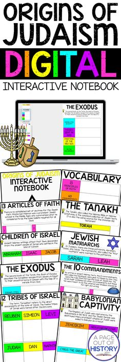 This paperless digital interactive notebook includes everything you need to teach a unit on the origins of Buddhism in a Google Drive, 13 Articles Of Faith, Vocabulary Notebook, History Classroom, Teaching Social Studies, World Religions, Judaism, Interactive Notebooks, Teacher Newsletter