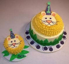 1st Birthday Lion Cakes