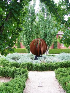 Corten steel sphere
