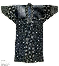 Awaji Island (Japan) Fisherman's Coat / what a sensational top layer :) Sashiko Embroidery, Japanese Embroidery, Japanese Textiles, Japanese Kimono, Kimono Fashion, Fashion Outfits, Womens Fashion, Kaftan, Style Asiatique