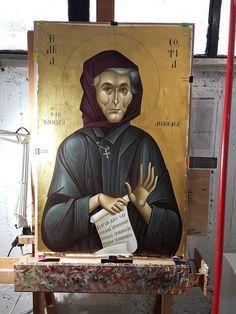 Eldress Myrtidiotissa of Klissoura Byzantine Icons, Byzantine Art, Roman Church, Roman Catholic, Faith Of Our Fathers, Virtual Art, Orthodox Icons, Little Sisters, Christianity
