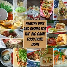 healthy dips and dishes big game www.fooddonelight.com