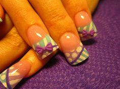 more bows and stripes by Oli123 - Nail Art Gallery nailartgallery.nailsmag.com by Nails Magazine www.nailsmag.com #nailart
