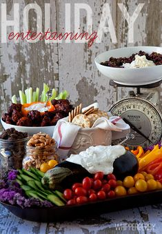 5 Tips for Easy Holiday Entertaining - Whipperberry Veggie Platters, Veggie Tray, Party Platters, Joel Robuchon, Yummy Veggie, Yummy Food, Food Displays, Food Presentation, High Tea