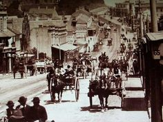 Traffic along Parramatta Road.,Sydney in the 1880's. Photo shared by the State Records of NSW.  v@e.