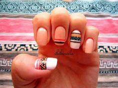 Pillecukor ♥: Húsvéti körömdíszítés / Easter nail art: white, black, pink and coral designs