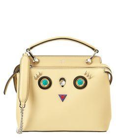 FENDI Fendi Dotcom Click Round Eyes Leather Chain Satchel'. #fendi #bags #shoulder bags #hand bags #leather #satchel #lining #
