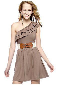 one shoulder - with a belt!