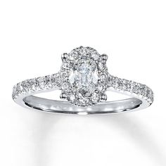 This Oval Pave Diamond Ring Is Kind Of Reminiscent Of Bella S