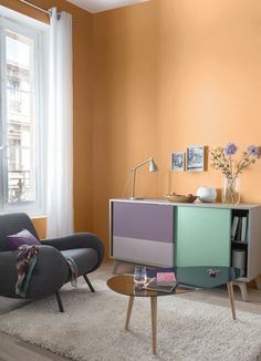 Rustic honey tones add a warm flavour to cold rooms without being too bold. Transform your home today with a terracotta army of colours from our GoodHome Paint range. Bold Living Room, Paint Colors For Living Room, Design Your Home, House Design, Room Interior, Interior Design, Interior Paint, Deco Rose, Pink Room
