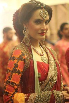 Pakistan L'Oreal Bridal Week wearing HSY