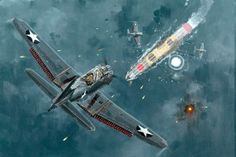 The Story of the The Battle Off Samar in the closing stages of the War in the Pacific in between the US and the Imperial Japanese Navy Ww2 Aircraft, Military Aircraft, Aircraft Carrier, Luftwaffe, Hd Desktop, Imperial Japanese Navy, War Thunder, Aircraft Painting, Airplane Art