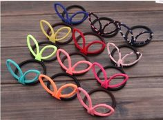 Smile Korean Candy Color Chiffon Rabbit Ears Elastic Hair Bands Hair Ropes Headband >>> Continue with the details at the image link. #haircare