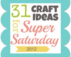 Awesome ideas for Super Saturday!