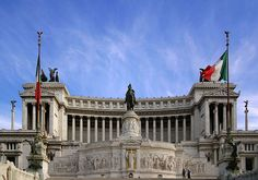 """The Altare della Patria (Altar of the Fatherland) also known as the Monumento Nazionale a Vittorio Emanuele II (National Monument to Victor Emmanuel II) or """"Il Vittoriano"""" is a monument built in honour of Victor Emmanuel, the first king of a unified Italy, located in Rome, Italy. http://en.wikipedia.org/wiki/Monument_to_Vittorio_Emanuele_II"""
