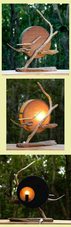 #流木 #流木アート #流木の照明 #金澤尚 #屋久島アート Light of driftwood art-#2-2006