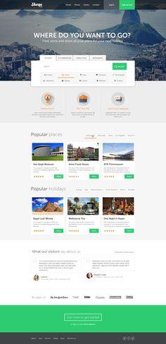 Travel homepage