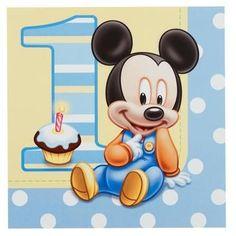 276a604618b3 Disney Mickey s 1st Birthday Lunch Napkins