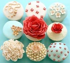 Beautiful cupcake icing (too pretty to eat ;-) ) idea, sweet, cupcakes, bake, food, beauti, yummi, pretti, dessert