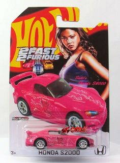Hot Wheels 2014 CUSTOM 2 FAST 2 FURIOUS SUKI HONDA S2000 PINK,RR10SP,FULL TAMPO #HotWheels