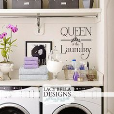 Queen of the laundry wall decal home decor for your for Room decor embellishment art 3d