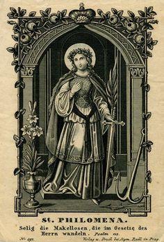 Santa Filomena cura os doentes, consola os aflitos e alcança favores de toda espécie.