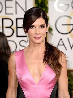 Alfombra roja Golden Globes 2014 belleza -Sandra Bullock