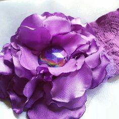 Bandas para niñas con flores de tela!! @dcarolve