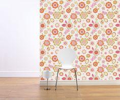 Designer, Multicoloured, 1960's Retro Wallpaper by Muriva | eBay