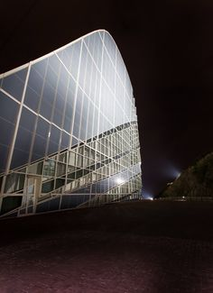 City of Culture – Santiago de Compostela, Spain – Client: Fundación Cidade da Cultura de Galicia                 Monte Gaiás – Architectural project: Arch. Peter Eisenman, Eisenman Architects, New York – Lighting project: Manuel Martínez Carazo - Lighting products: MaxiWoody by iGuzzini Illuminazione - Photo: Luz y Arquitectura. Gala Martínez #iGuzzini #Lighting #Light #Luce #Lumière #Licht #working #culture #SantiagodeCompostela