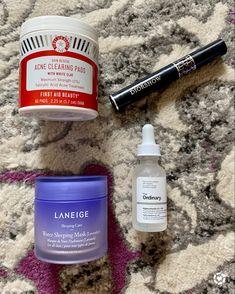Sephora Haul, Salicylic Acid Acne, First Aid Beauty, Laneige, White Clay, Acne Prone Skin, Sleep Mask, Beauty Stuff, Nails Inspiration