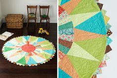 Sunny Day Mat Quilt - In Little Bits Quilting Bee published by Chronicle Quilting Projects, Sewing Projects, Prairie Points, Sewing Appliques, Modern Fabric, Table Toppers, Craft Sale, Crafty Craft, Diy Accessories