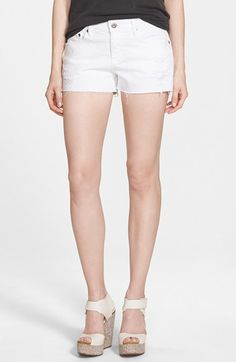 $158, AG Jeans Ag Bonnie Cutoff Shorts. Sold by Nordstrom. Click for more info: https://lookastic.com/women/shop_items/233363/redirect