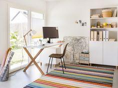Micasa Arbeitszimmer mit Pult & Regal aus dem Programm COX Office Desk, Corner Desk, Design, Furniture, Home Decor, White Shellac, Arredamento, Home Decoration, Writing Table