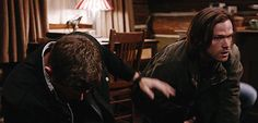 "out-in-the-open: "" This was probably my favourite scene in the whole episode. After seeing demon Dean trying to kill Sam with a hammer last week and just being awful in general, this is just what I..."