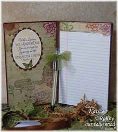covered note pad directions by Kathy Roney