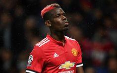 Descargar fondos de pantalla Paul Pogba, 4k, el Manchester United, de la Premier League, Inglaterra, el fútbol, el futbolista francés