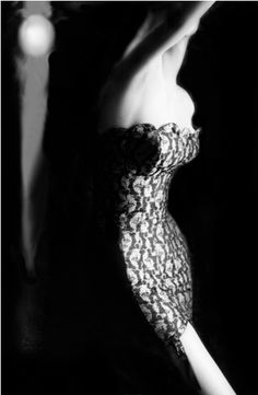 By Lillian Bassman, 1954,  Shaped and Supple, Alicia Mendoza, corselet by Warner's.