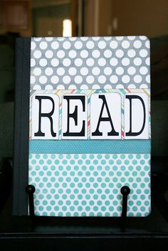This would be great to have in the classroom! Kids read a book, write the title in the notebook and rate the book that they read--genius!