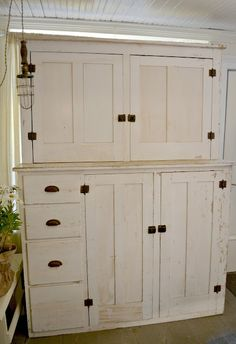 old cream painted cupboard