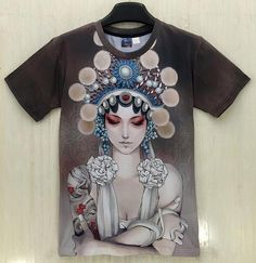 China Style Men/Women&'s T-shirt 3d summer tops printed Beijing opera actor Casual t shirt short sle