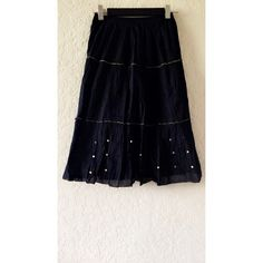 Black sequin skirt Beautiful skirt... Kids size 14 but also fits adult small/xs mall Skirts Midi