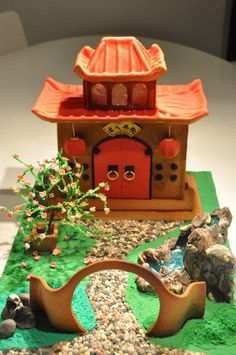 Chinese Garden Gingerbread house - Cake by Svetlana Petrova