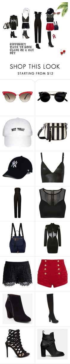 """Dark & Sly"" by daii-robinson on Polyvore featuring Gucci, Marc Jacobs, T By Alexander Wang, STELLA McCARTNEY, Balmain, Chicwish, Pierre Balmain, BCBGeneration, Donald J Pliner and Coach"