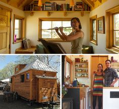 Tiny Houses On Wheels Interior | Quality Over Quantity - Esther & Kenny Living Less is More - http ...