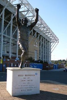 Billy Bremner Statue at Elland Road, Leeds. Home of Leeds United FC