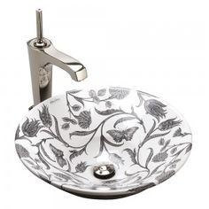 The Botanical Study design on Conical Bell® vessel basin is a superb designer washbasin by KOHLER, inspired by the natural beauty of the great outdoors. Kohler Bathroom, Bathrooms, Lavatory Sink, Study Design, Fountain, Ceramics, Stuff To Buy, Basins